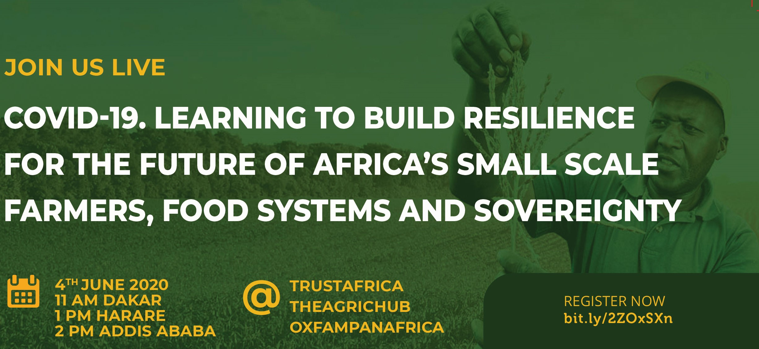 Covid-19. Learning to build resilience for the future of Africa's small scale farmers, food systems and sovereignty