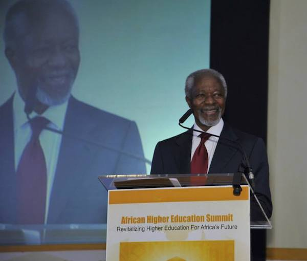 kofi Annan at African higher Education summit