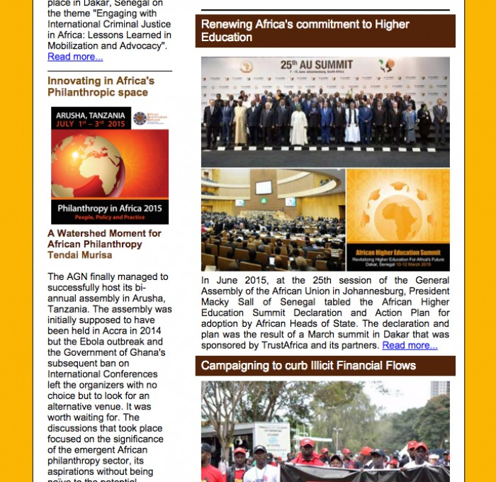 TrustAfrica Newsletter - September 2015